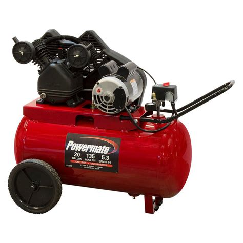 powermate 20 gal portable electric air compressor pp1682066 mn the home depot