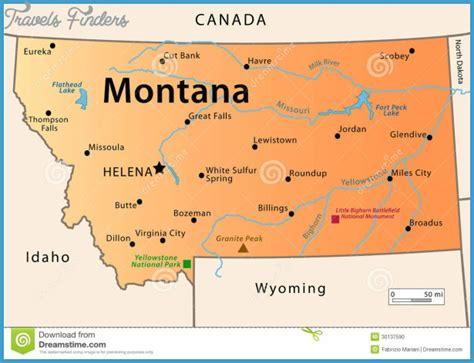 montana in usa map montana on map of usa usa maps us country maps