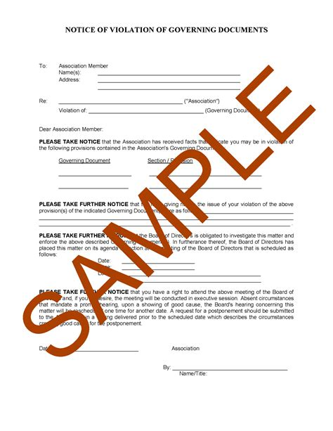 Sle Letter Of Agreement With Emergency Evacuation Site hoa letter template the best of 2018