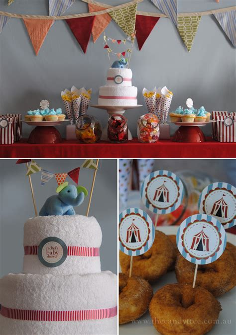 Circus Baby Shower Ideas sweet vintage circus baby shower