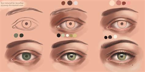 paint tool sai realistic eye tutorial eye tutorial photoshop by ayyasap on deviantart