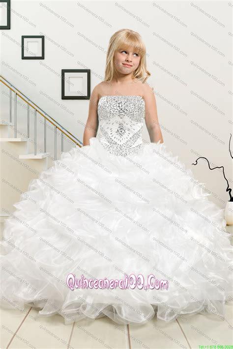 Atasan Big Ruffle White 2015 ruffles and beading white sweet 16 dresses and dama dresses and ruffles white