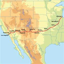 united states map showing route 66 route 66 motorcycle road trip los angeles to chicago