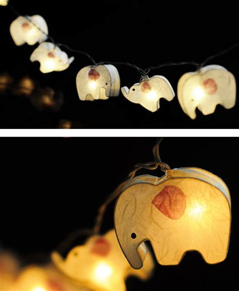 Elephant Paper Lantern String Light Bored Panda How To Make Paper Lantern String Lights