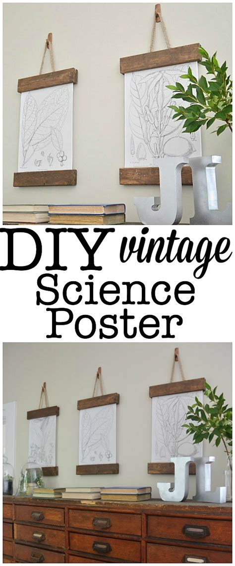 poster hanging ideas diy vintage science poster