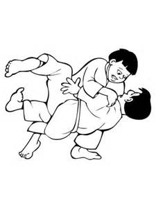ausmalbild kinder judokampf kostenlos zum