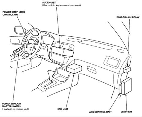 car engine manuals 1997 honda odyssey parking system where is the srs control module on a 1997 honda civic