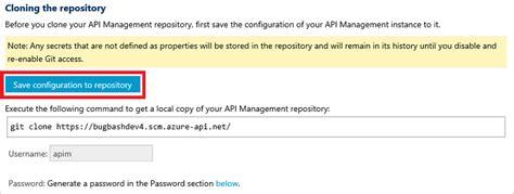 repository pattern save changes git を使用した api management サービスの構成 azure microsoft docs