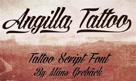 angilla tattoo font 30 best free fonts 2015
