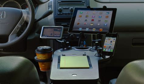 car desk car desk and station for electronics journidock