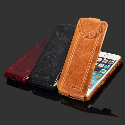 flip genuine leather case  iphone    sse