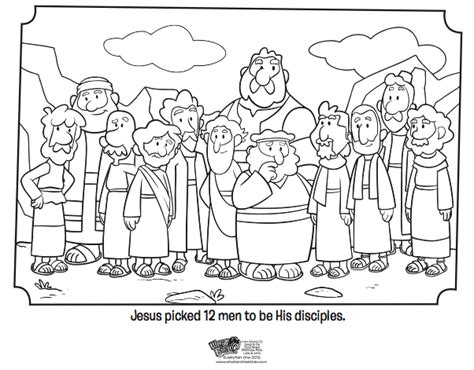 12 Disciples Worksheet by 12 Disciples Coloring Page Bible Coloring Pages What S