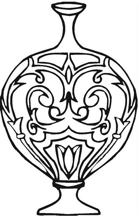 coloring page vase vase pottery coloring page coloriages pinterest