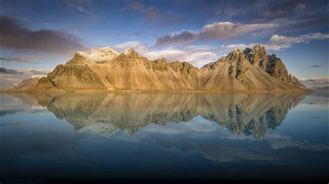 wallpaper vestrahorn iceland mountains nature