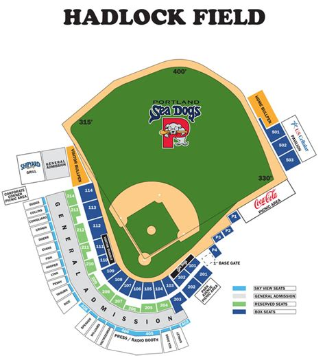 sea dogs portland ticket prices seating chart portland sea dogs hadlock field
