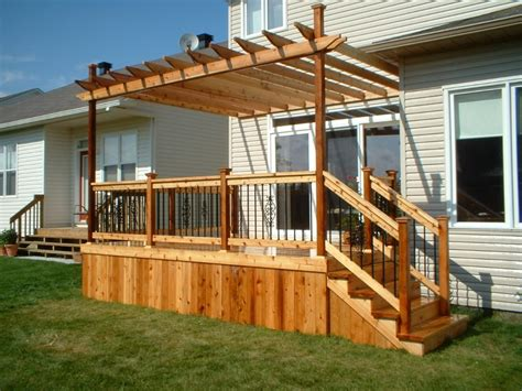 pergola with deck decks pergolas and patio covers gallery s landscaping