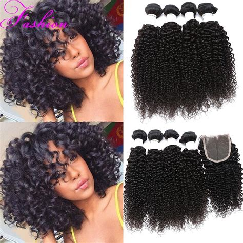 weave indiana hair and closure curly 4 bundles with closure peruvian virgin hair with closure