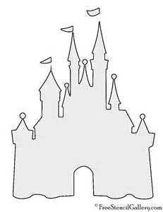 castle drawing template disney castle stencil free stencil gallery