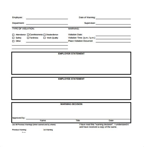 write up forms for employees templates free sle employee write up form 7 documents in pdf