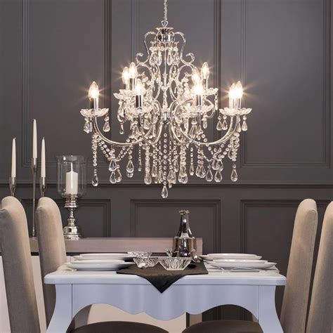Madonna Chandelier 12 Light Dual Mount Chrome From Litecraft Chandelier Dining Room