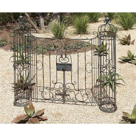 decorative garden gates home depot american home 62 in x 67 in wrought iron garden gate