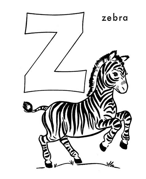 Zebra Z Coloring Page | letter z coloring pages coloring home