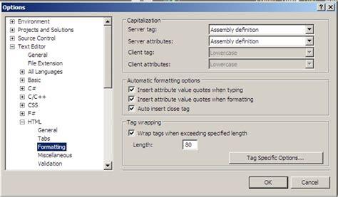 format js file in visual studio javascript visual studio 2010 html formatting option for