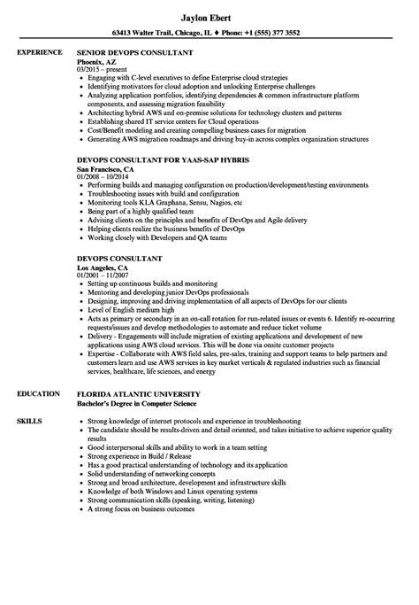 Devops Consultant Resume Sles Velvet Jobs Devops Resume Template
