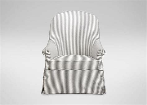 Gray And White Striped Chair Como Gray Seat White Legs Side Chair