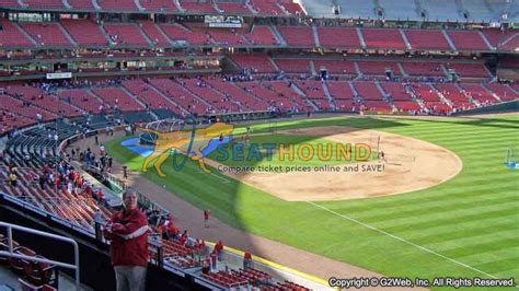 section 148 busch stadium busch stadium section 235 loge first base seating view at