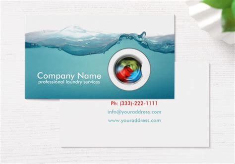 laundry card template 23 service business card templates free premium