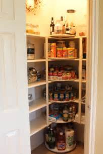 clever idea if you a pantry with shelves that corner