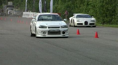 nissan skyline gtr vs bugatti nissan skyline gt r r34 900hp vs bugatti veyron 1001hp