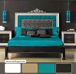 Contrasting colors of the right to choose the bedroom turquoise colors