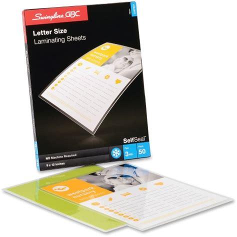 swingline gbc selfseal cold laminating sheet swi3747307