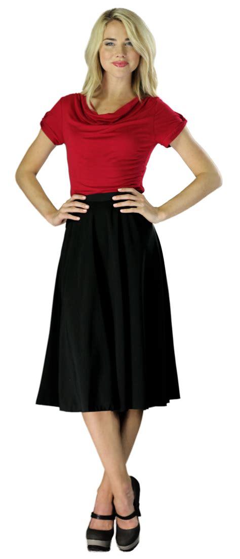 modest midi skirts in black