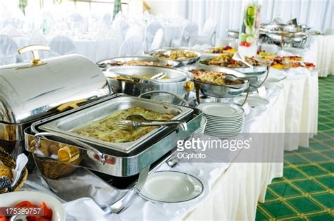 metal food container buffet with metal food containers stock photo getty images