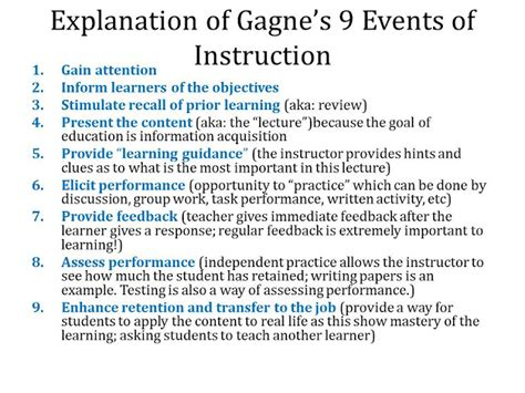 Outline Gagnes Conditions Of Learning by Robert Gagn 233 Who