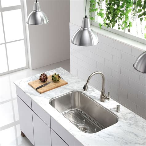 Kraus Undermount Kitchen Sink Kraus Kbu14 Kitchen Sink Stainless Steel Undermount Single Bowl Kitchen Sinks Efaucets