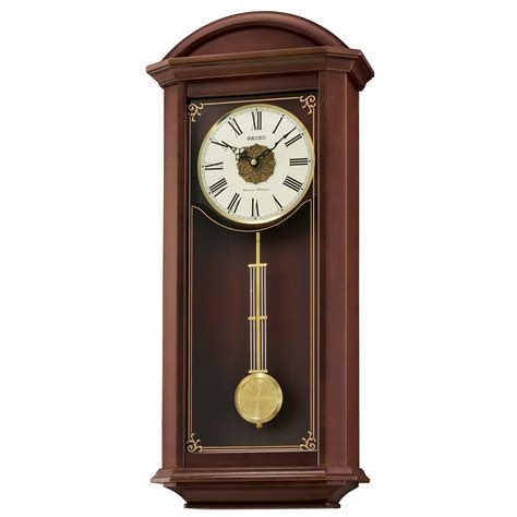brown wall clocks contemporary seiko contemporary classics brown pendulum wall clock