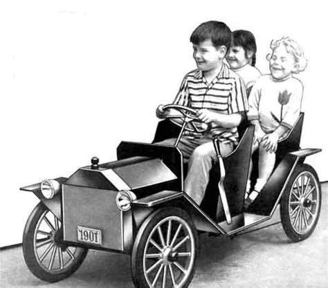 vintage battery powered ride  car  plans  build