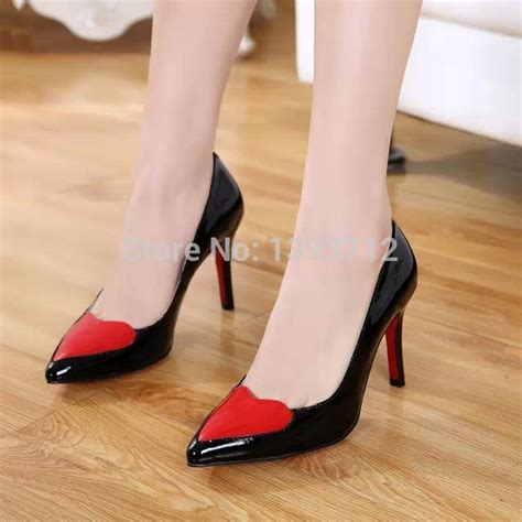 black high heels with soles 2015 autumn black patent leather shoes sole