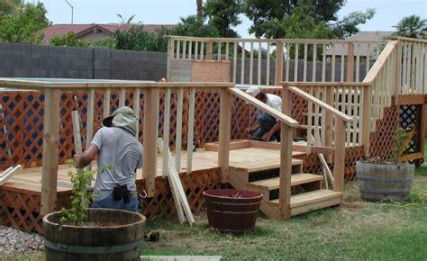 wood decks   ground pools