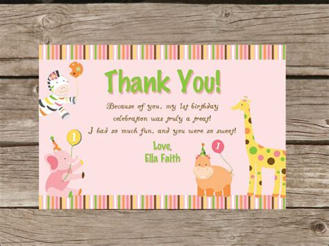 template for thank you card birthdays 10 printable thank you card templates psd ai free