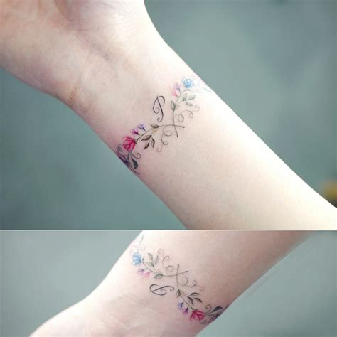 delicate wrist tattoo designs 14 flower wrist bracelet tattoos 30 subtle and