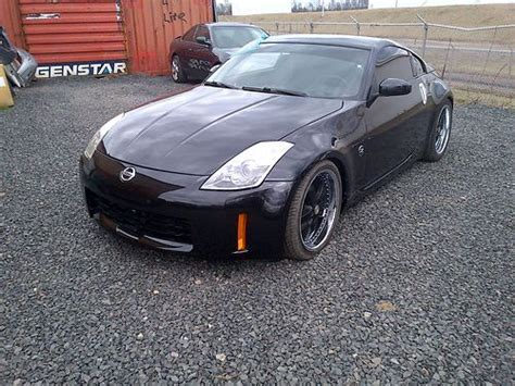2006 nissan 350z 6 speed manual salvage rebuildable for sale find used nissan 350z 6 speed runs great salvage title black with black rims in basking ridge