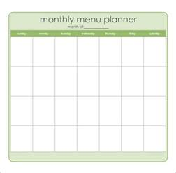 free menu planner template sle meal planning template 15 free documents