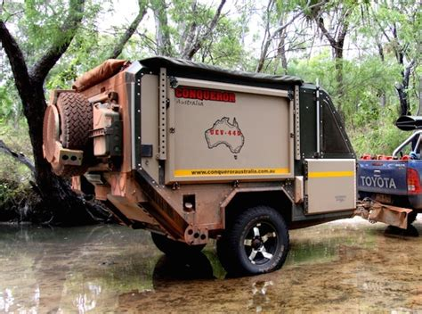 Lightweight Caravan Awning Conqueror Australia Makes Spectacular Off Road Campers