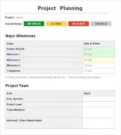 Project Planning Template by Project Planning Template 4 Free For Word