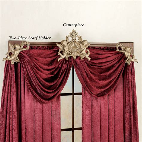 drapery scarf holders cherub loop window drapery hardware